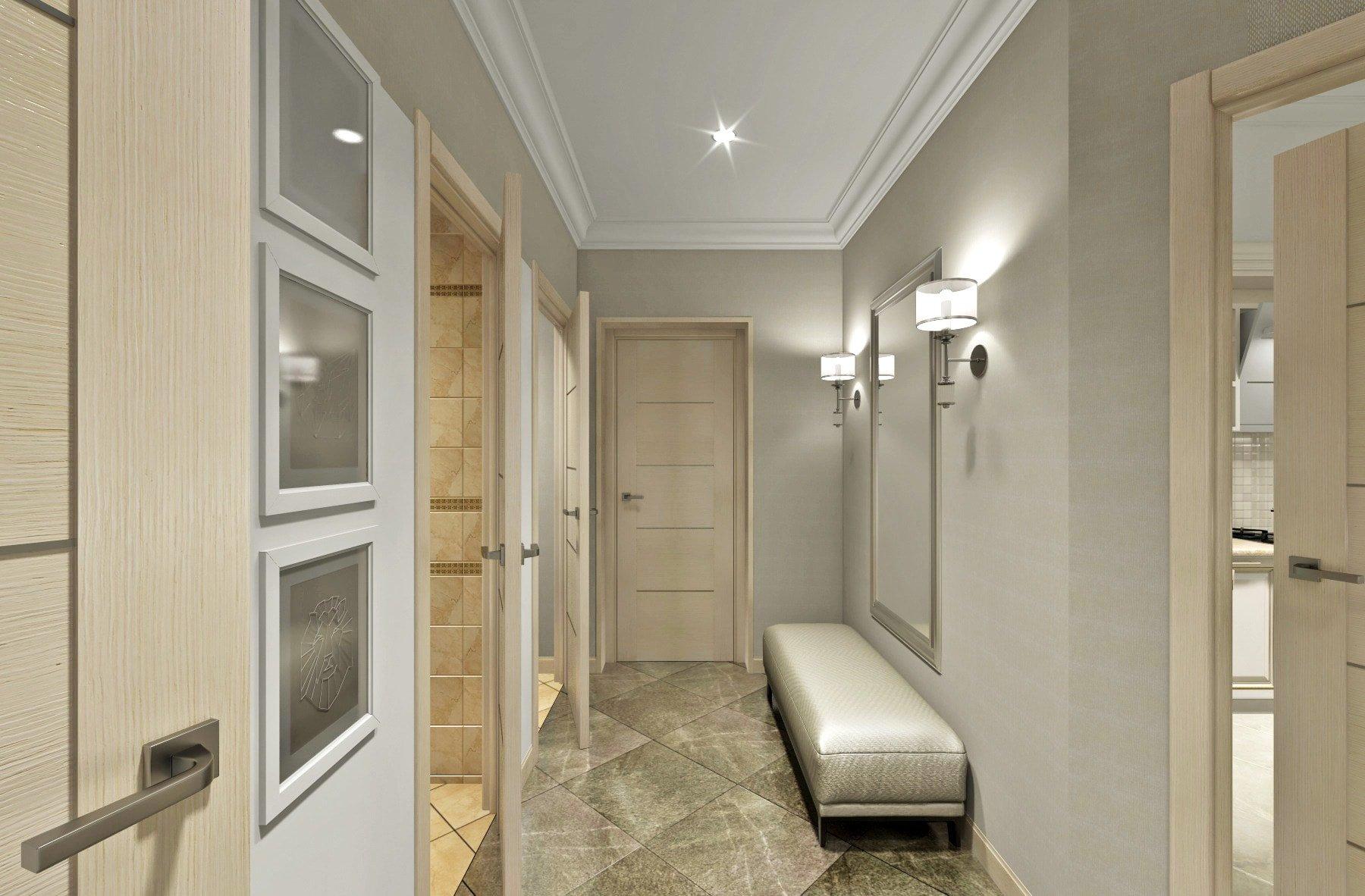 дизайнерская студия гомель, дизайн коридора 3