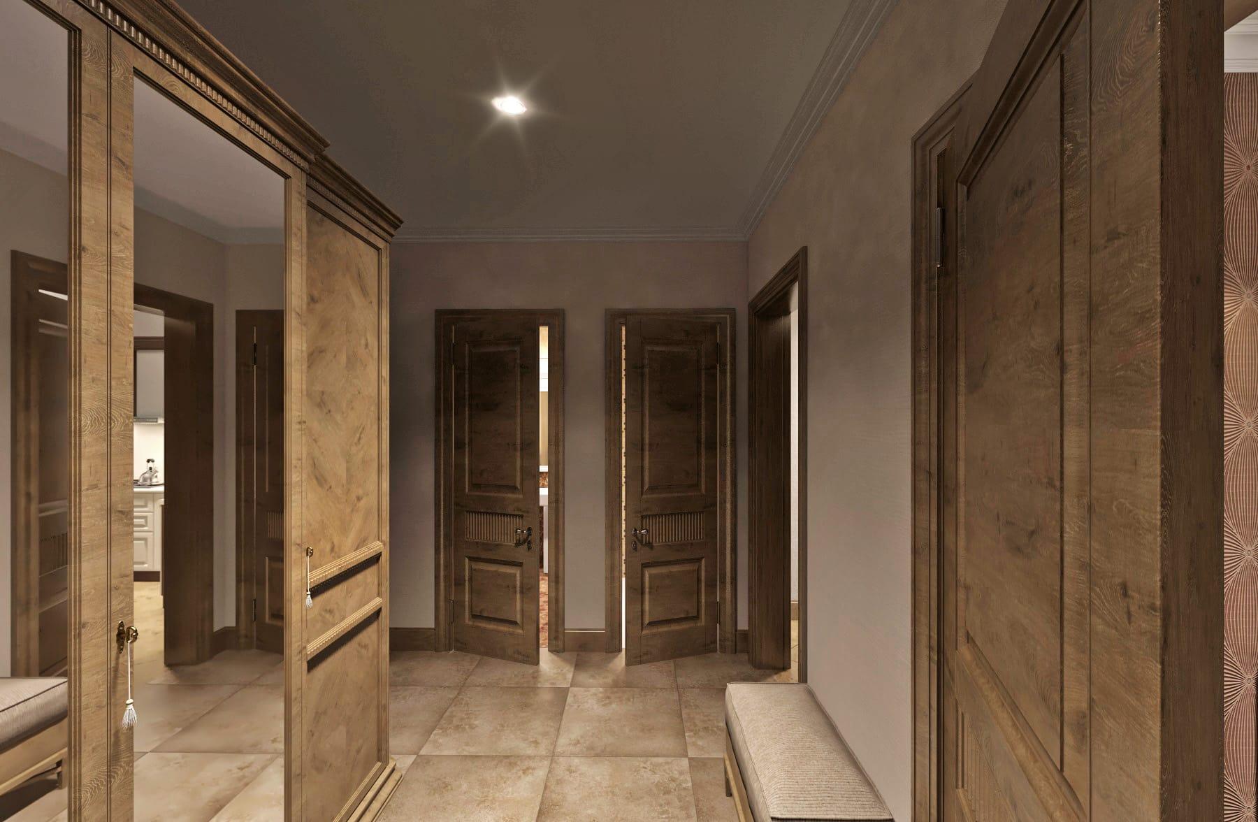 Дизайн интерьера в Ставрополе шкаф в коридоре одинаковые двери 2