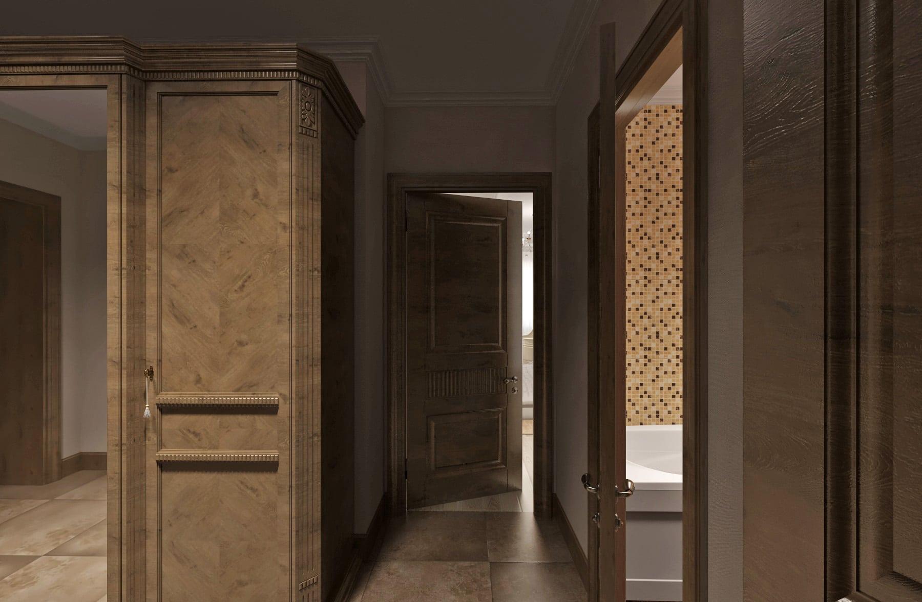 Дизайн интерьера в Ставрополе шкаф в коридоре одинаковые двери