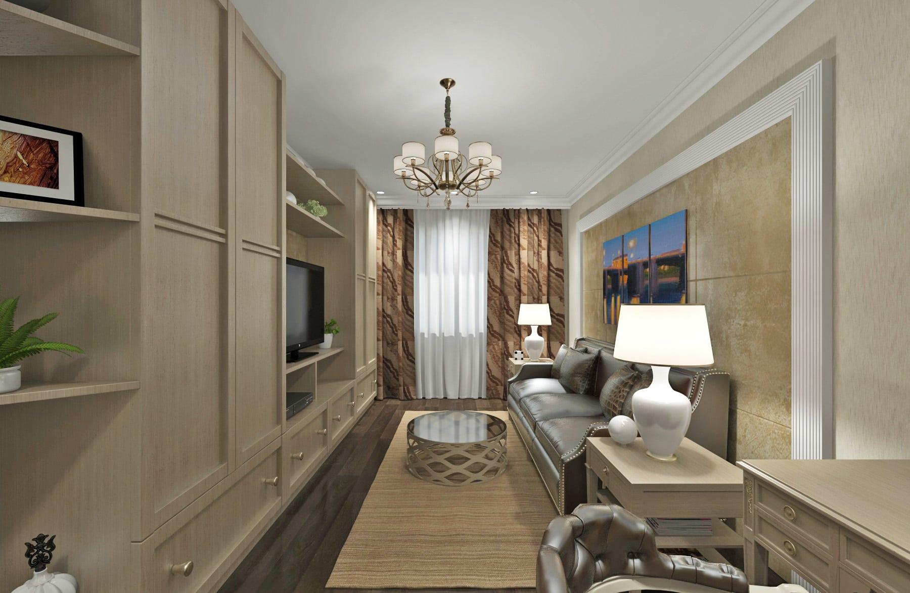 Дизайн проект квартиры в Гомеле, дизайнер интерьера в гомеле, дизайн гостиной, Шкаф до потолка, телевизор большой, кожаный диван