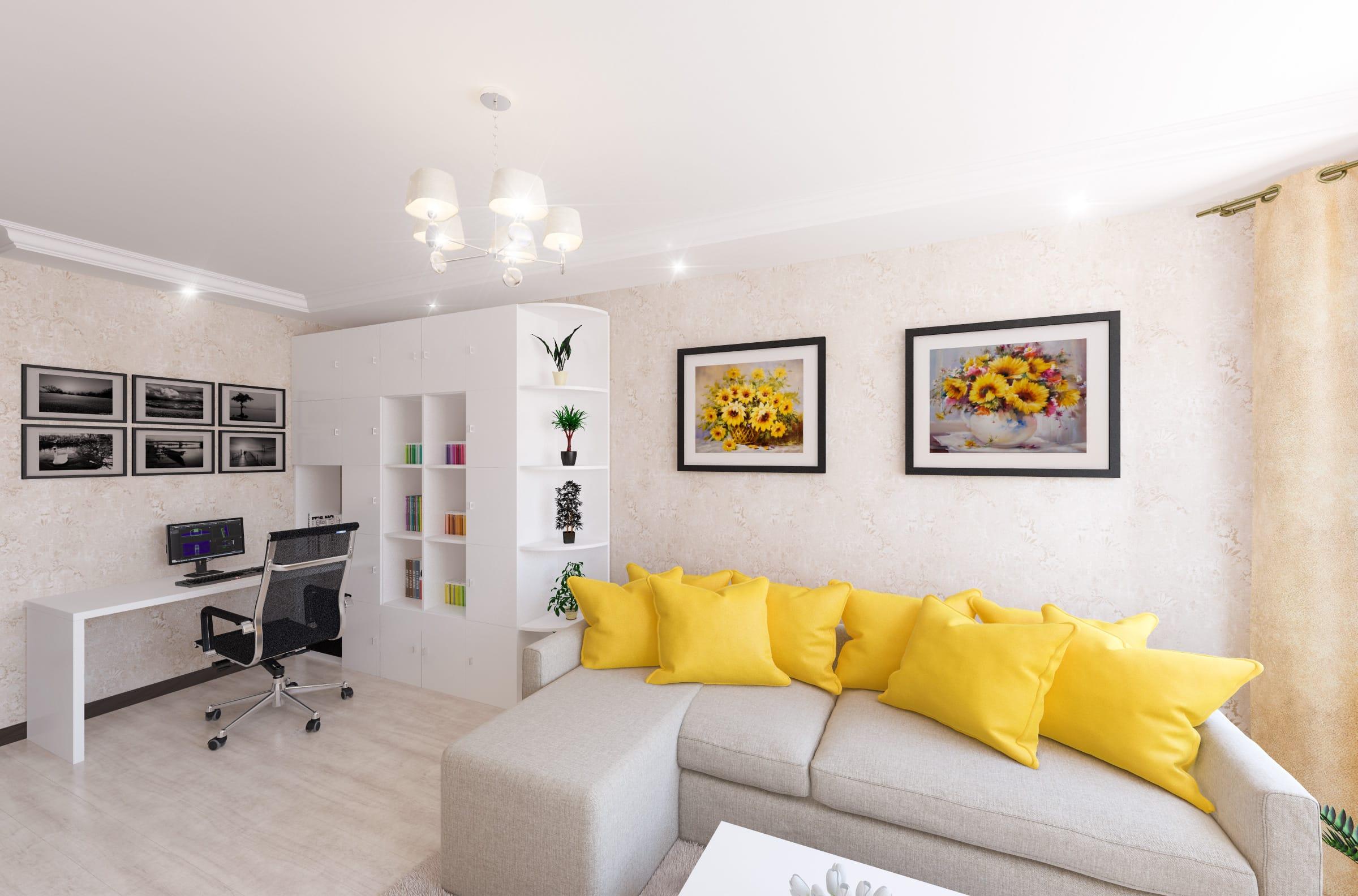 Дизайн интерьера гостиной в Гомеле
