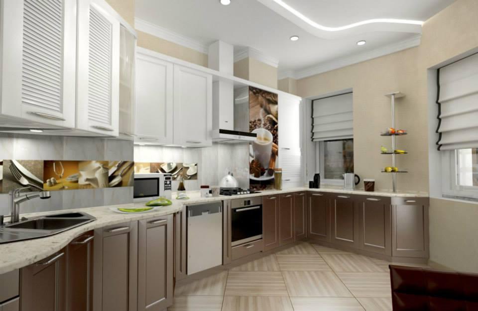 фотопечать в интерьере кухня