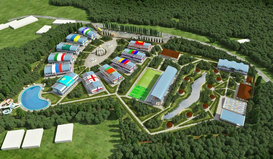 визуализация микрорайон база отдыха спорткомплекс
