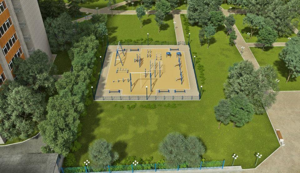 визуализация спортивной площадки