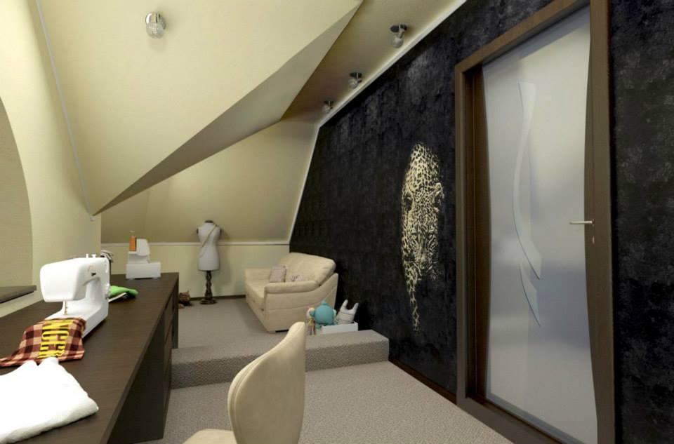 рисунок на стене в интерьере
