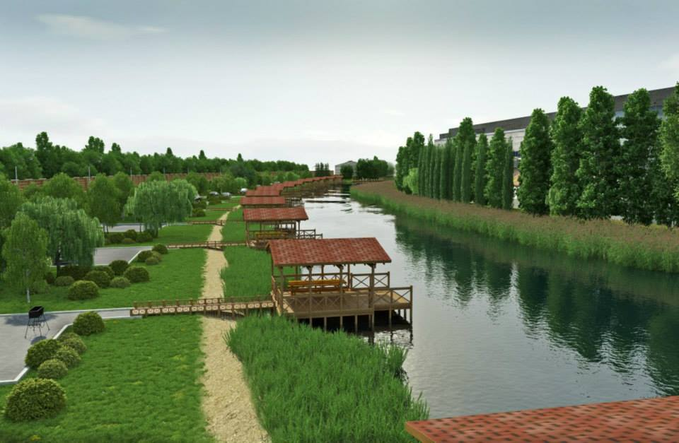 ландшафт визуализация база отдыха для рыбаков
