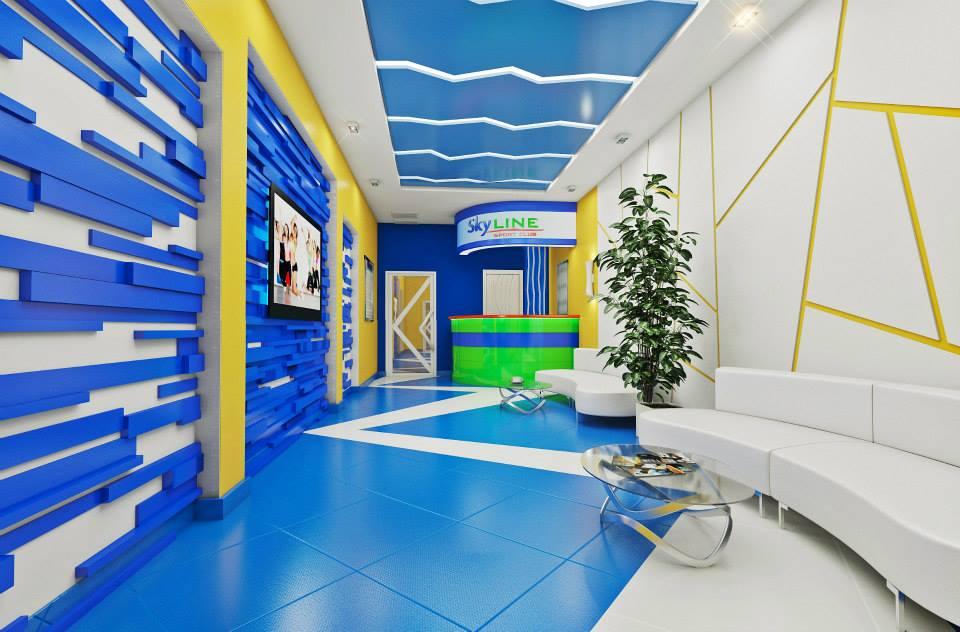 дизайн холл фитнес центр