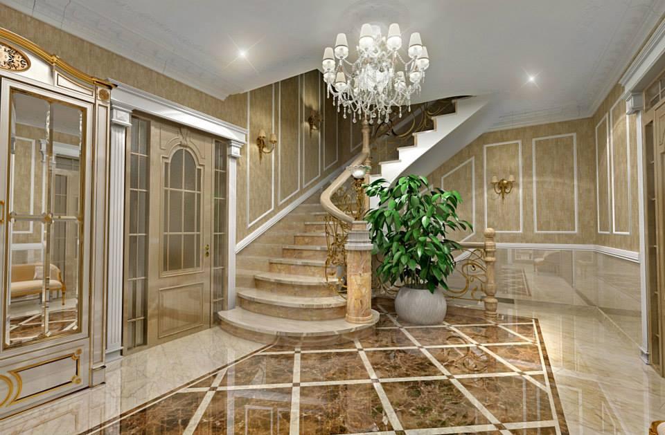 дизайн интерьера холла классический стиль мозырь