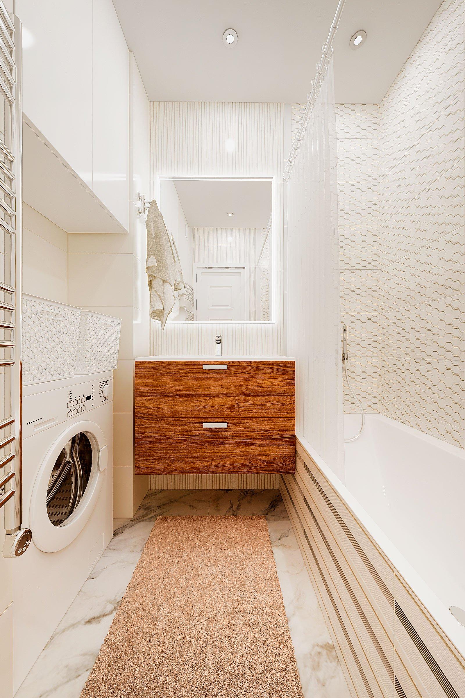 дизайн интерьера ванной в современном стиле, Гомель 2018, фото №1