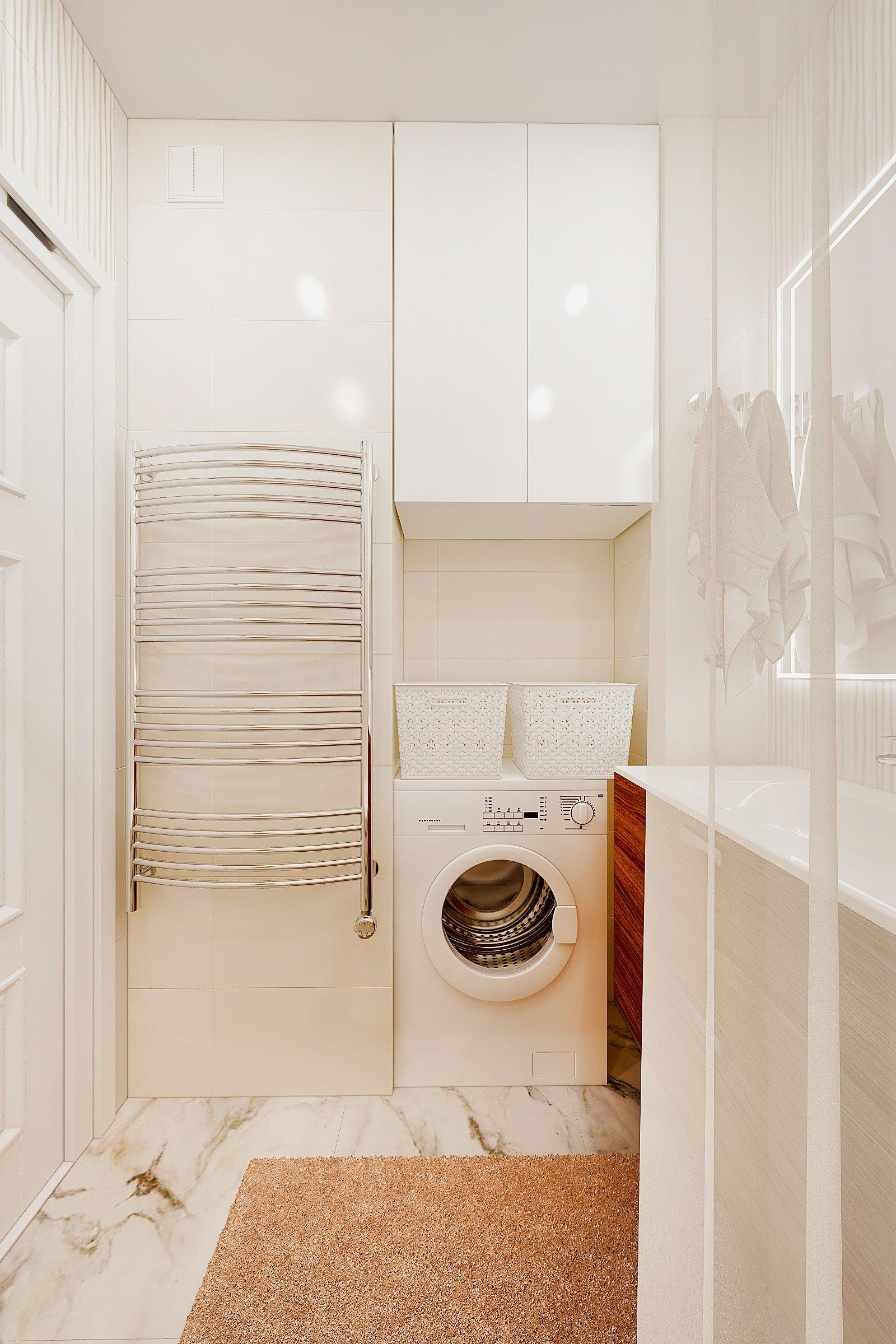 дизайн интерьера ванной в современном стиле, Гомель 2018, фото №2