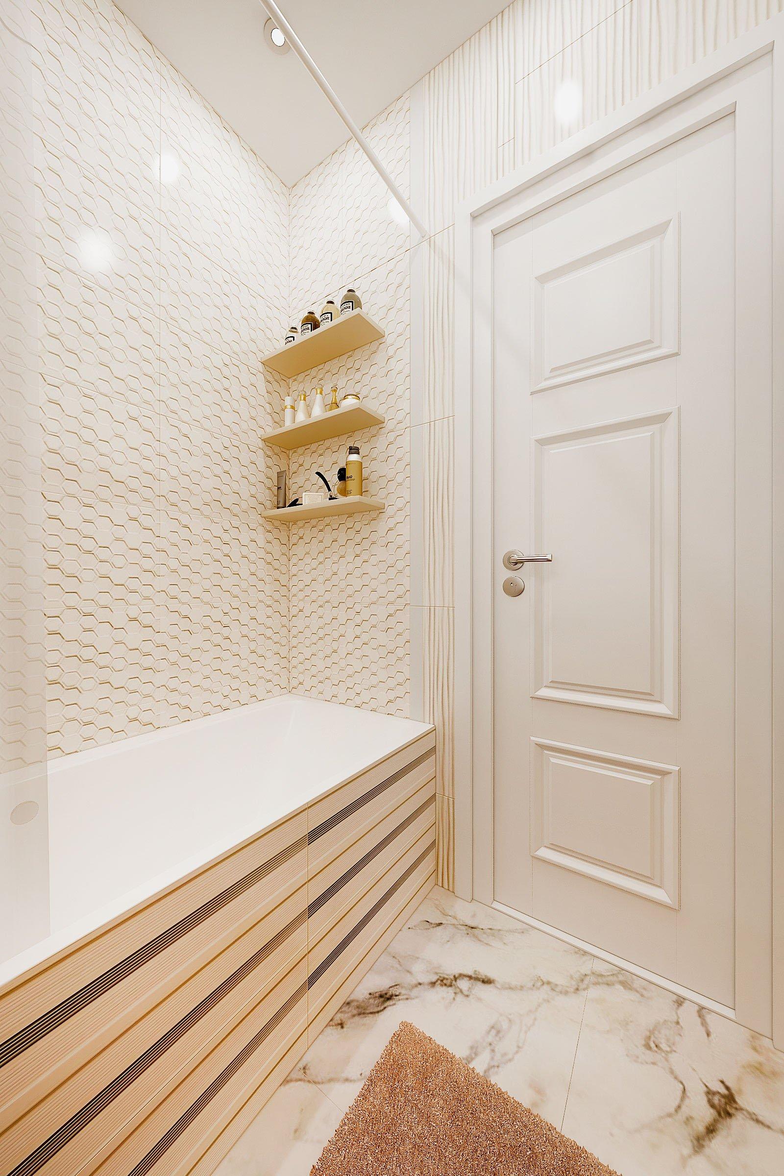 дизайн интерьера ванной в современном стиле, Гомель 2018, фото №4