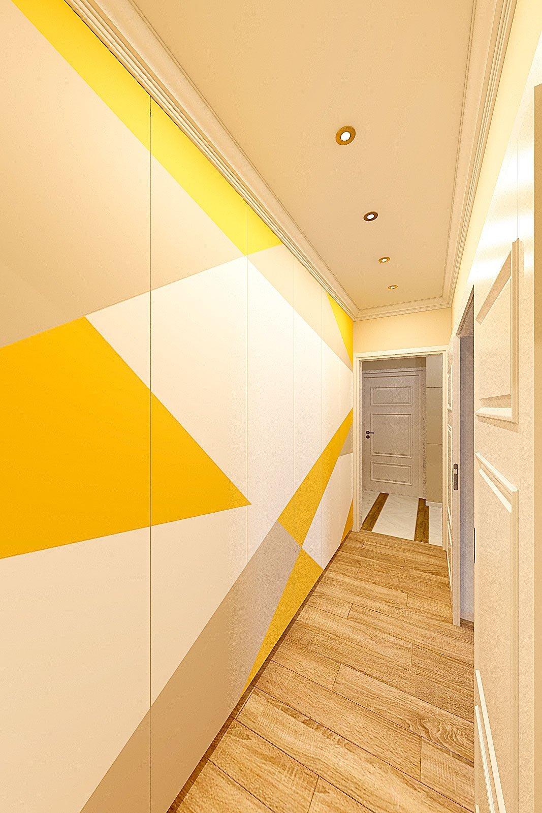 дизайн интерьера коридора в современном стиле, Гомель 2018, фото №1