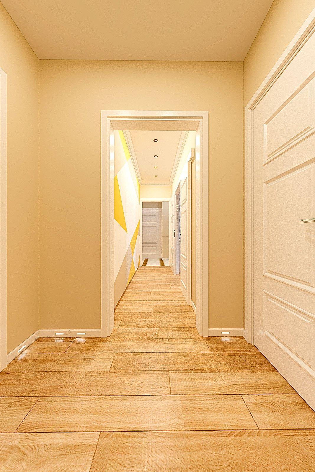 дизайн интерьера коридора в современном стиле, Гомель 2018, фото №2
