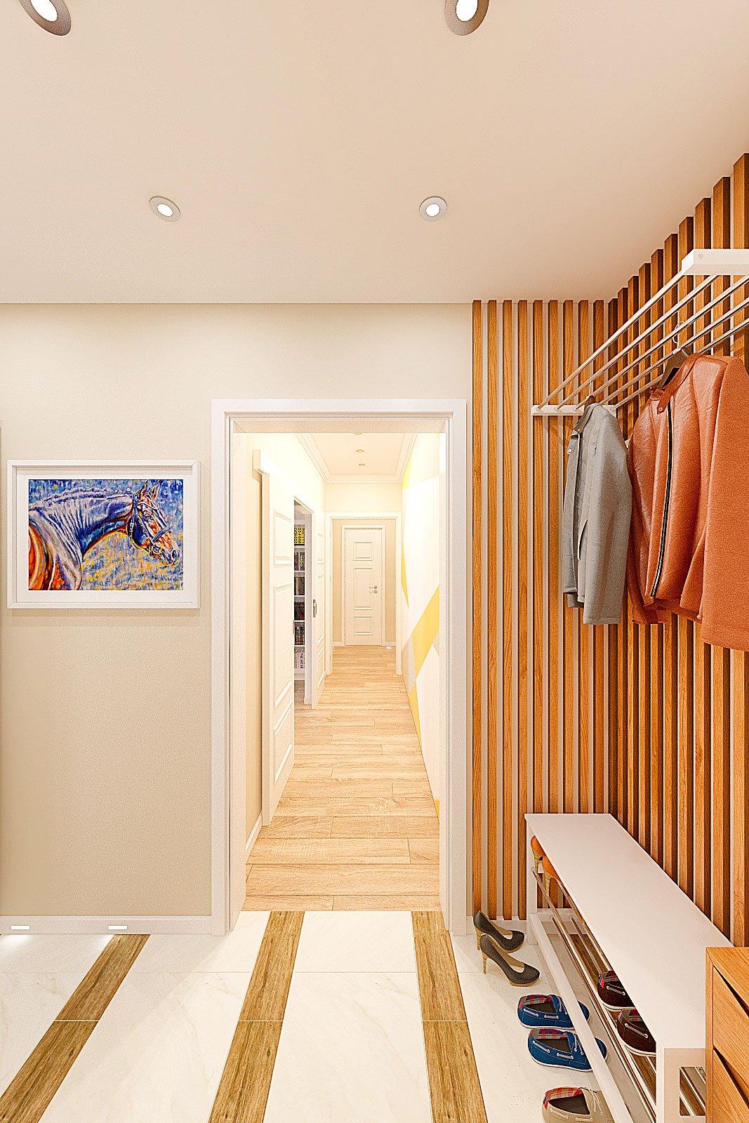 дизайн интерьера прихожей в современном стиле, Гомель 2018, фото №5