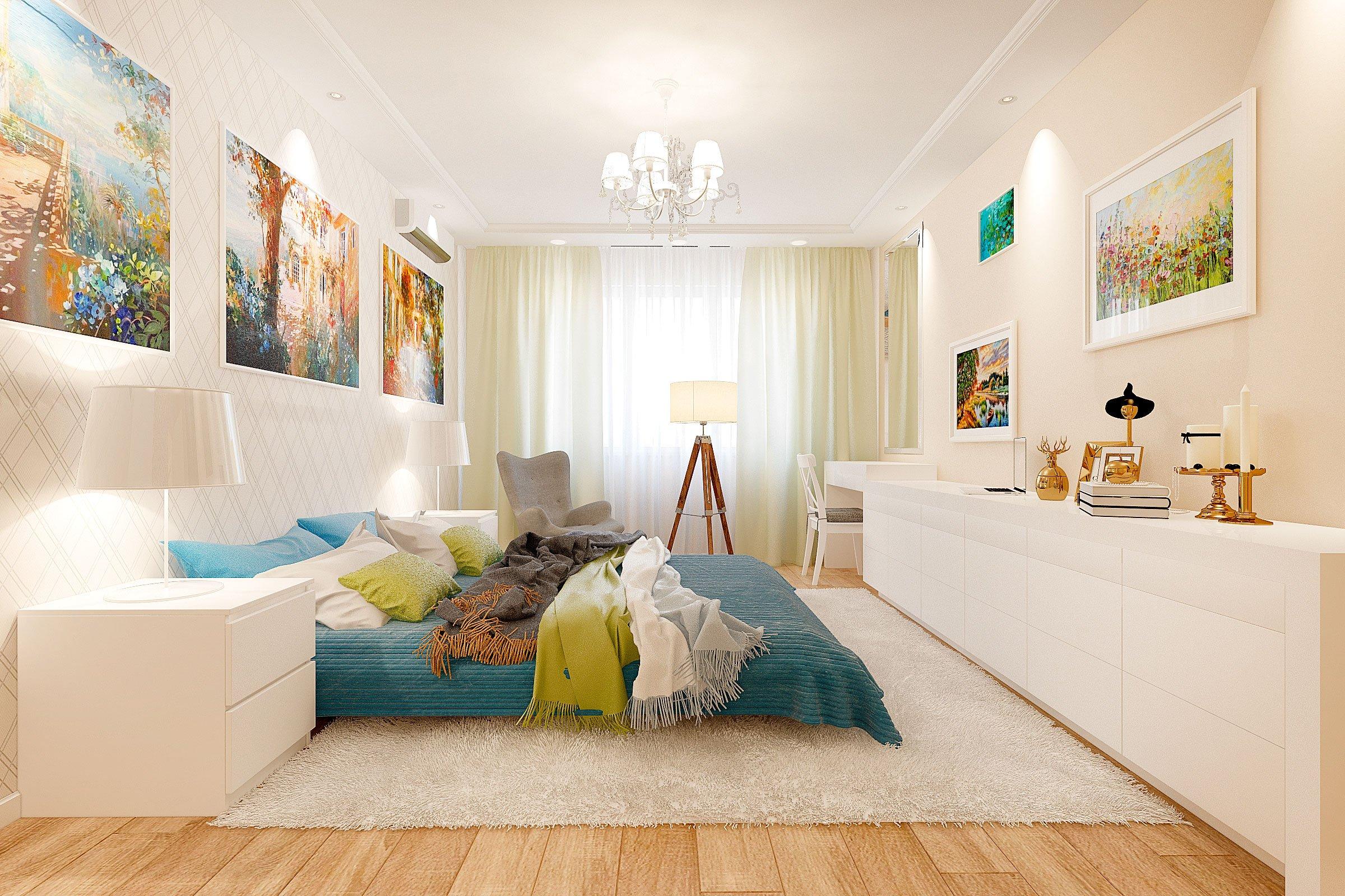 дизайн интерьера спальни в скандинавском стиле, Гомель 2018, фото №4