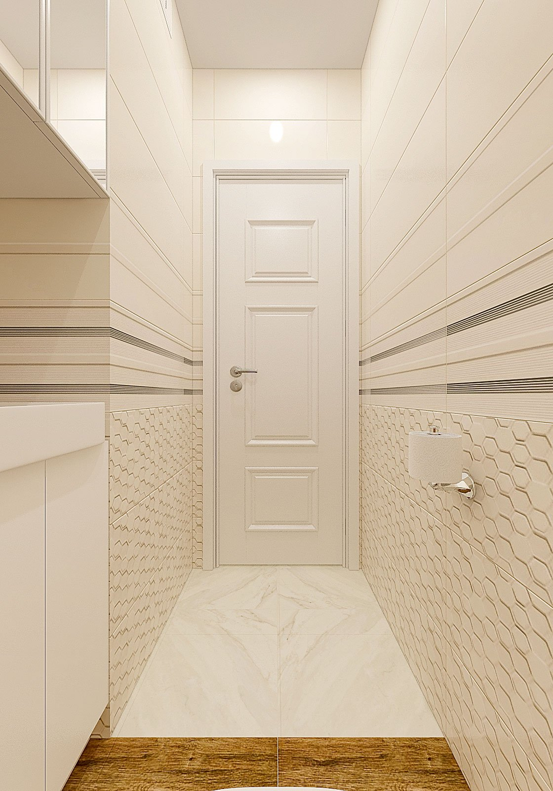 дизайн интерьера туалета в современном стиле, Гомель 2018, фото №2