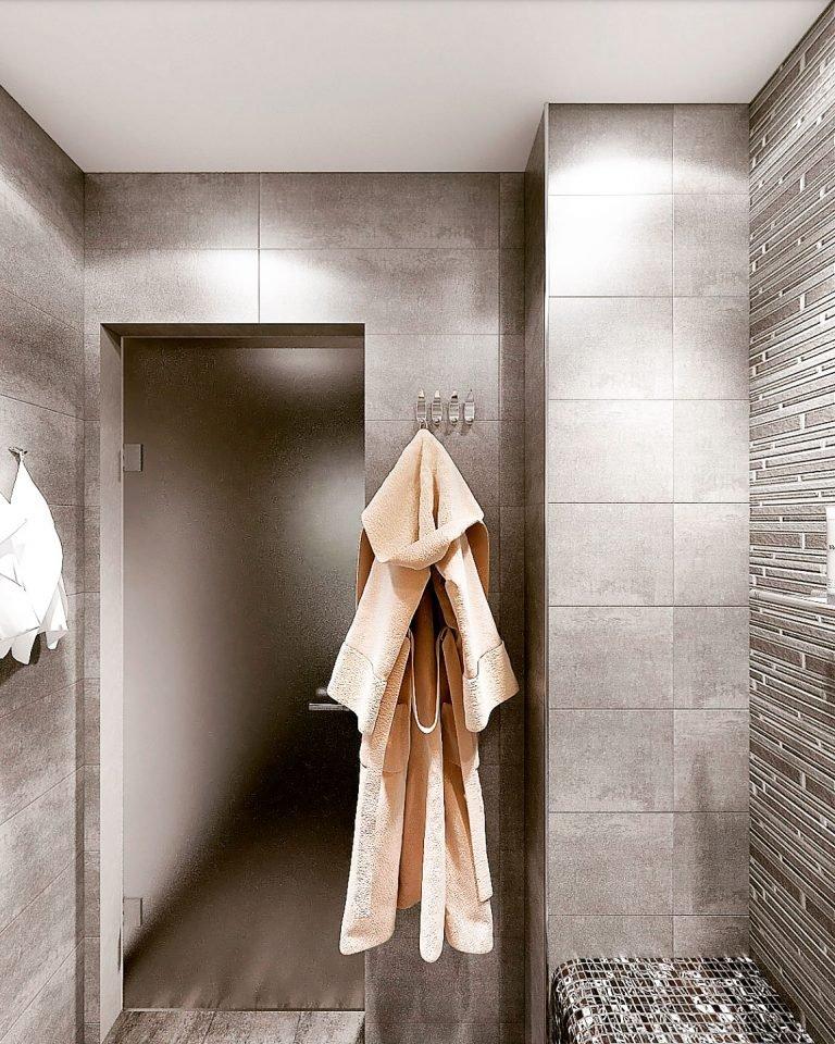 дизайн интерьера душевой в бане