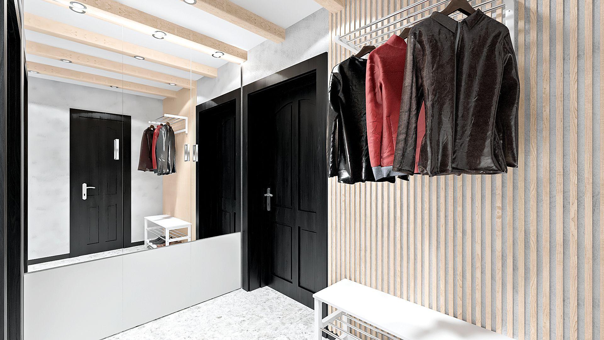 интерьер лофт коридор прихожая