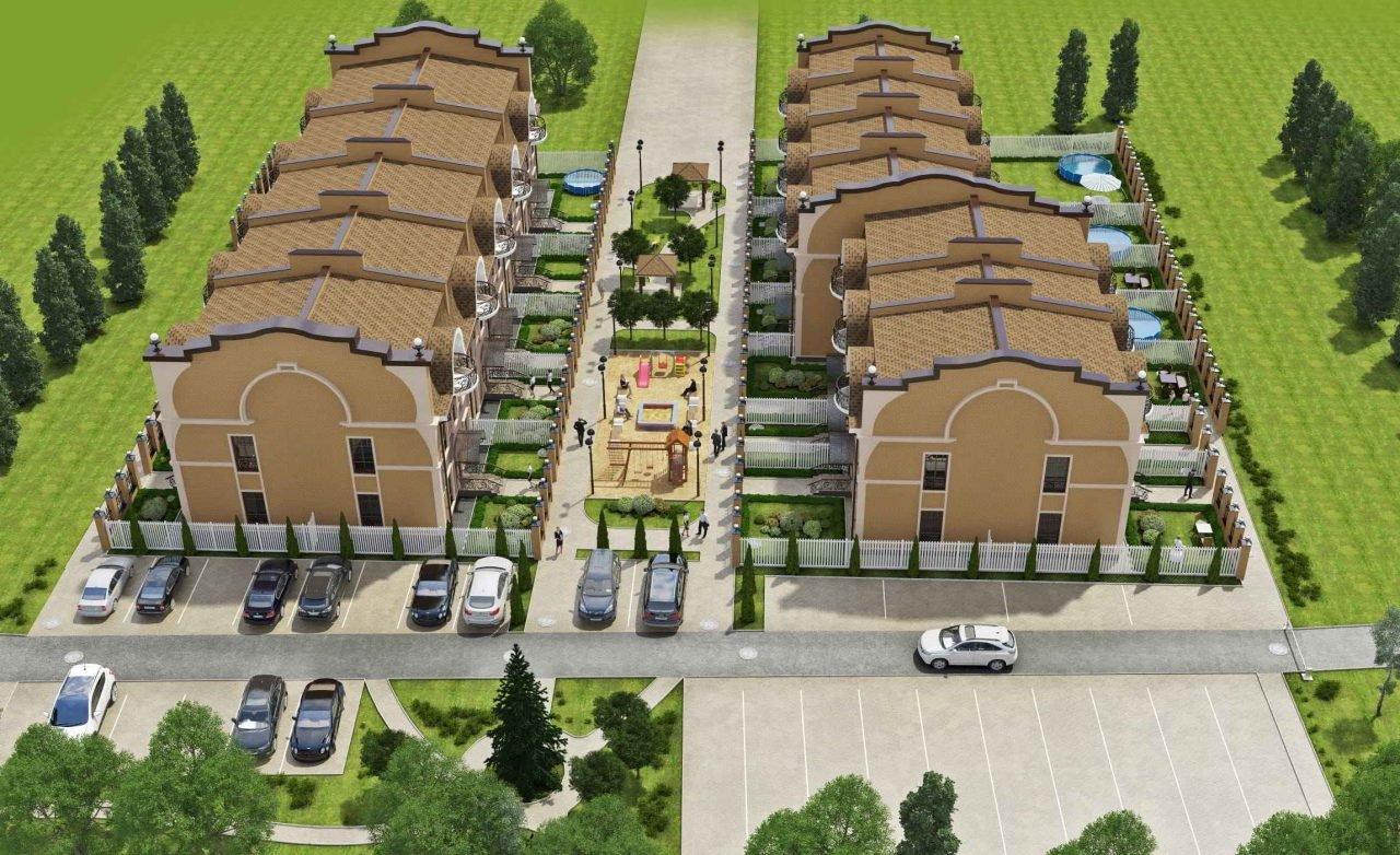 Дизайн фасадов в Гомеле, проект таунхаусов в Нижнем Новгороде, изображение №1