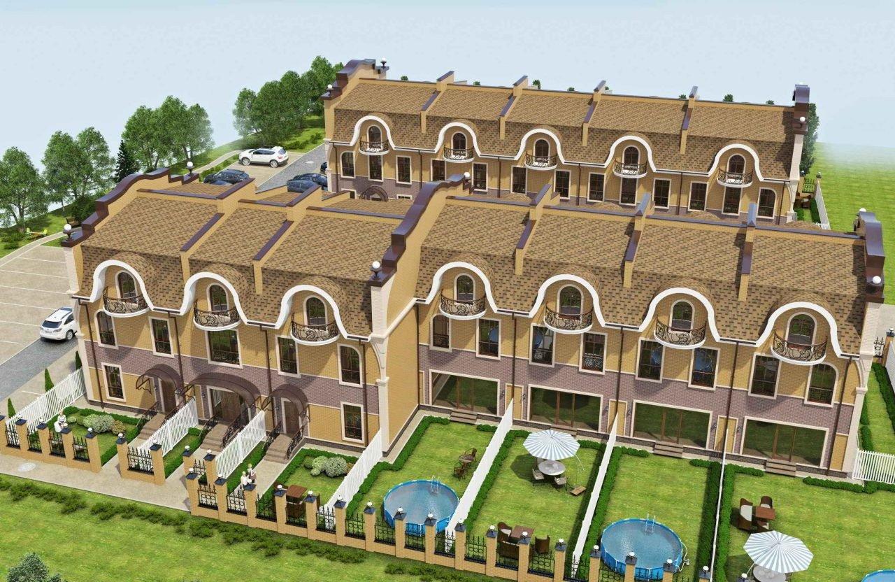 Дизайн фасадов в Гомеле, проект таунхаусов в Нижнем Новгороде, изображение №7