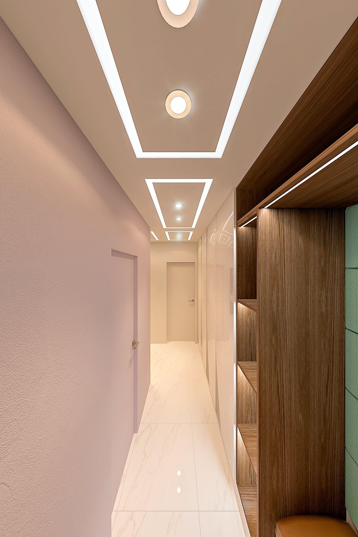 Прихожая, коридор, вид со входа