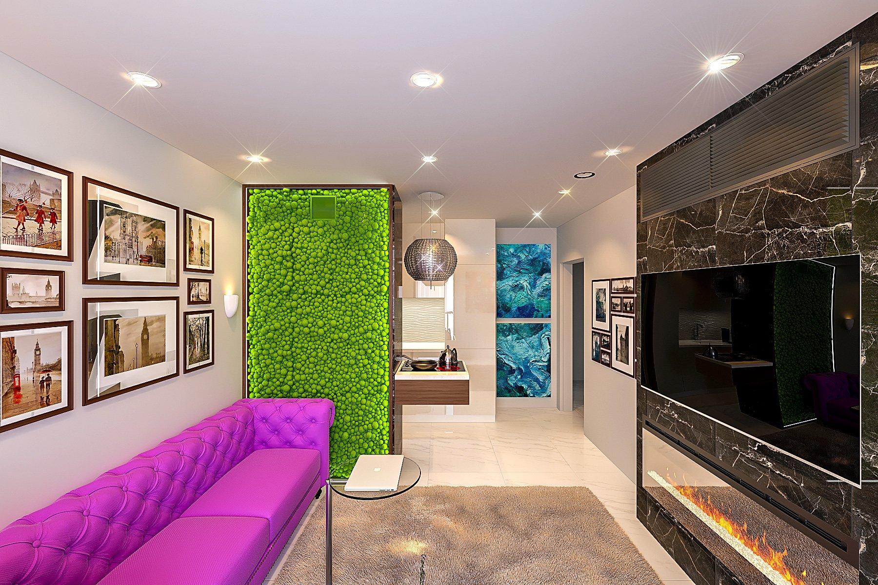 Дизайн однокомнатной квартиры в минске