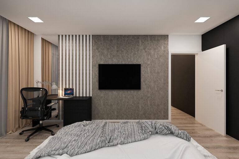 спальня дизайн интерьера в современном стиле, фото 2