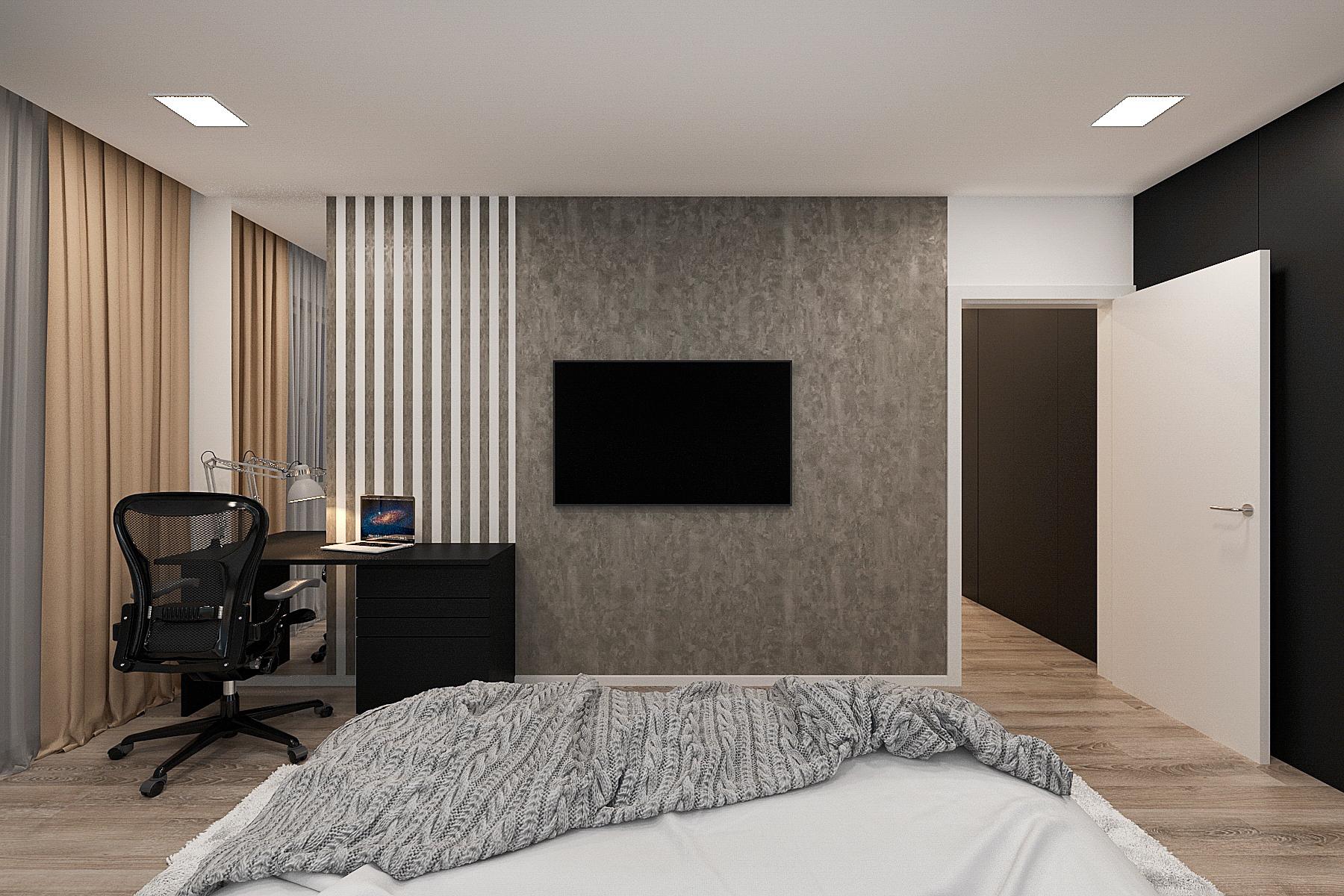 спальня интерьера в современном стиле, фото 2