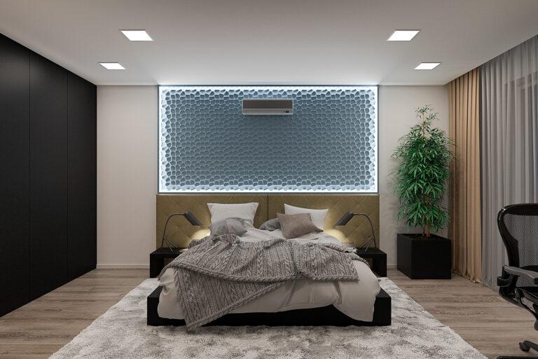 спальня дизайн интерьера в современном стиле, фото