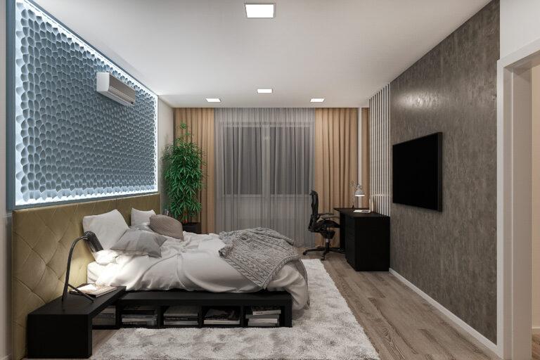 спальня в современном стиле дизайн 20 кв