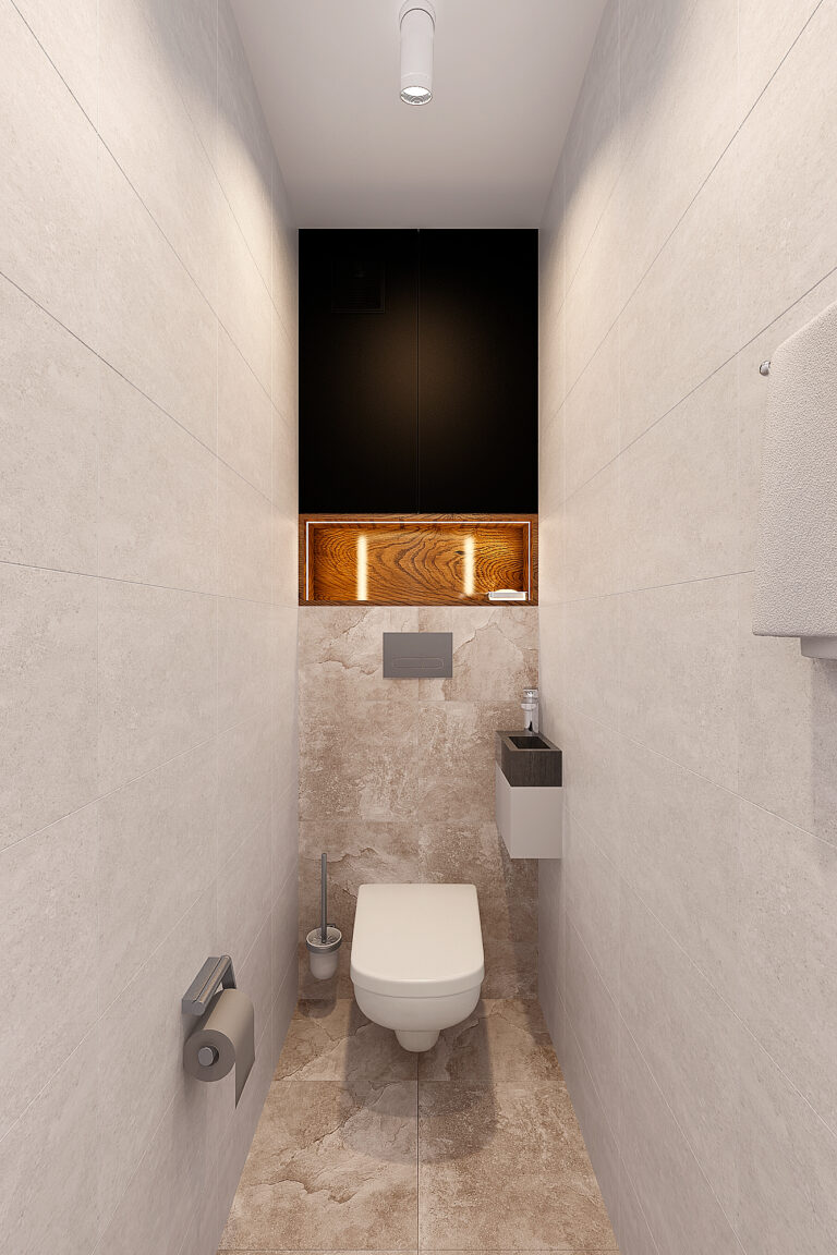 инсталляция в узком туалете