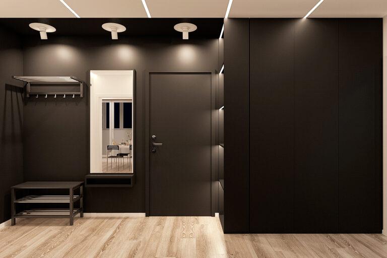 дизайн прихожей в квартире современном стиле, фото 1
