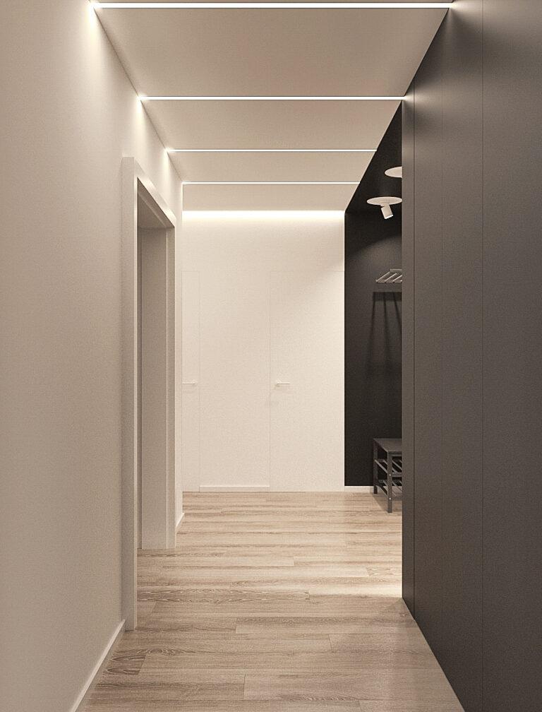 дизайн коридора в квартире, шкаф, фото 3